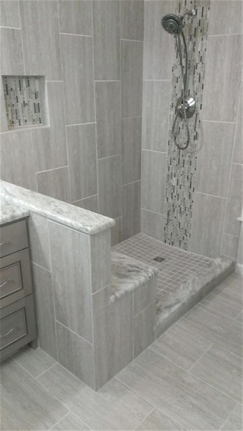 master bathroom complete remodel    vertical tile