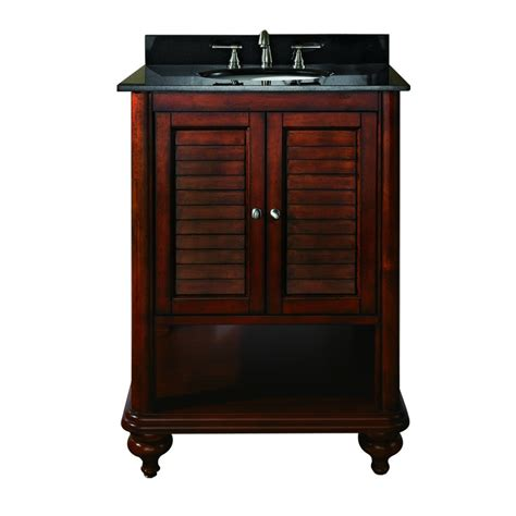 25 inch single sink bathroom vanity with antique brown