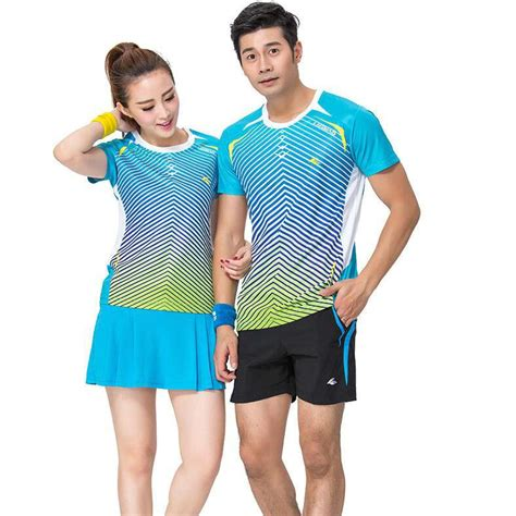 2017 Couples Badminton Shirt Good Fashion Sport Wear Short T Shirt Man Woman Tennis Clothing ...
