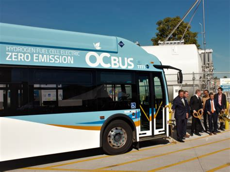 orange county unveils   fuel cell electric buses