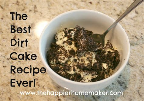 dirt cake recipe   happier homemaker