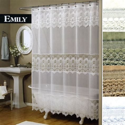 25 best ideas about lace shower curtains on