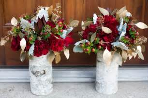 Burgundy and Gold Rustic Wedding Centerpieces