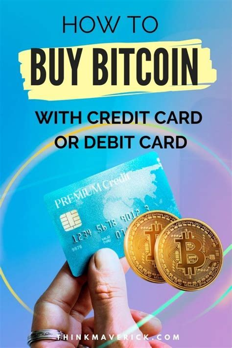 Using a credit card to buy bitcoin is one of the many available payment options today and one that people will often find to be the most convenient. How to Buy Bitcoin with Credit Card in 2020 | Buy bitcoin, Bitcoin, Credit card