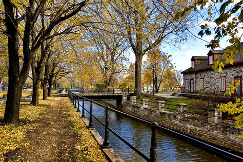 lachine canal lachine canal  fall montreal artur