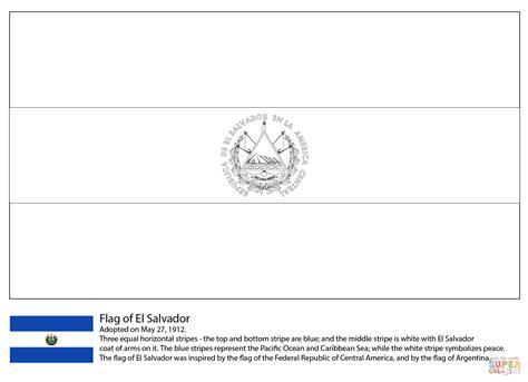 Flag Of El Salvador Coloring Page Free Printable