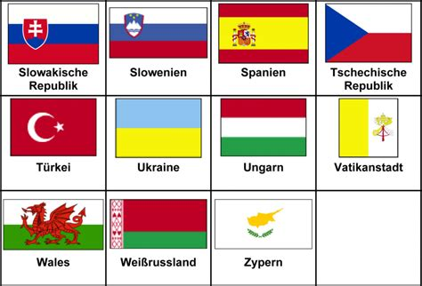 flaggen der europaeischen laender  alphabetischer
