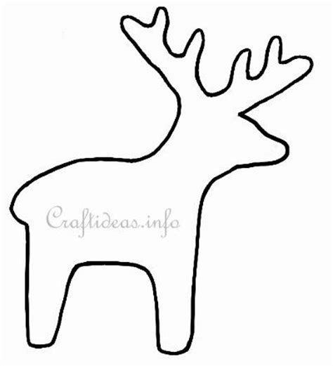 reindeer template printable template or pattern for a reindeer