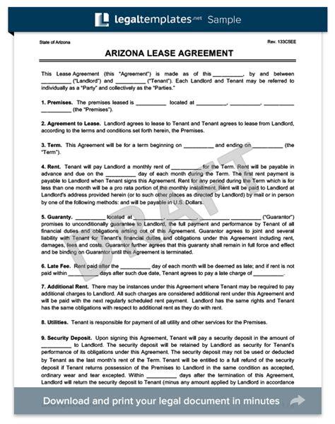 oregon chai arizona residential lease rental agreement form template