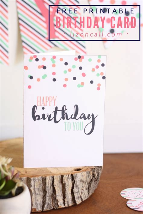 Free Printable Birthday Card And A Giveaway  Liz On Call. Example Of Verbal Warning Letter. Vacation Photo Albums 4x6 Template. Employee Absence Template. Sample Of Blank Invoice Template Printable