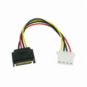 Serial Ata Sata Male To Ide Molex Female 4