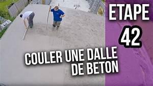 Comment Faire Une Dalle : comment couler la dalle b ton d 39 une terrasse garage etape 42 youtube ~ Farleysfitness.com Idées de Décoration