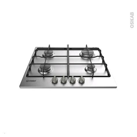 plaque de cuisine gaz plaque de cuisson 4 feux gaz 60 cm inox indesit thp 642 ix