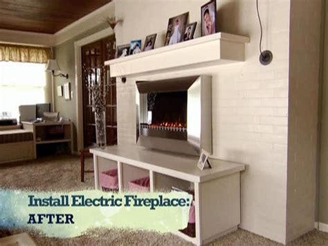 Install An Electric Fireplace With Custom-built Mantel And