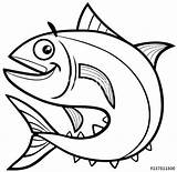 Tuna Coloring Pages Jellyfish Fish Getcolorings Printable sketch template