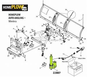 Genuine Meyer 22887 Electric Lift Unit  Linear Actuator  For Home Plow By Meyer Auto Angling