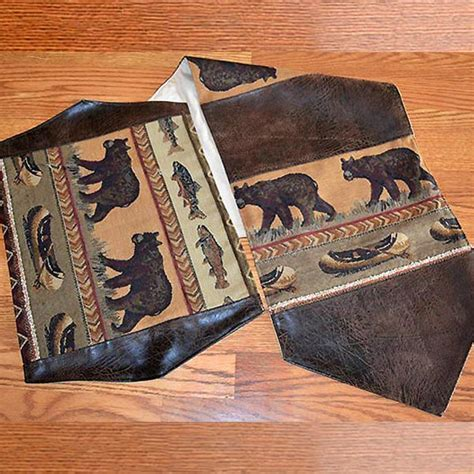 Moose Patch Placemats and Table Runners: Cabin Place