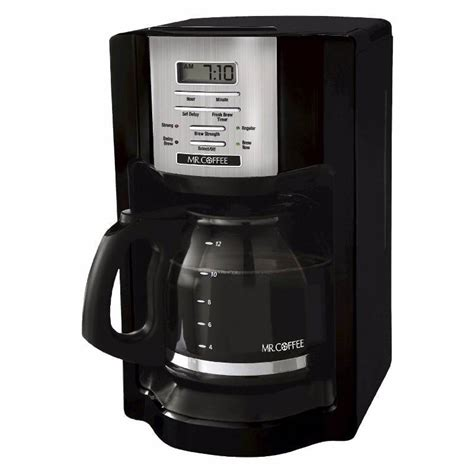 A special control lets you know just how long it's been since your coffee was brewed. Mr. Coffee® Black 12-Cup Programmable Coffeemaker   New Year - New OverStock Merchandise #482 ...