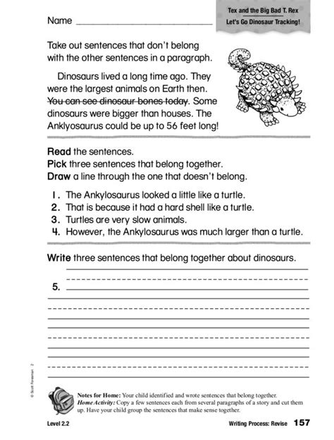 writing process revise topic worksheet for 2nd 3rd