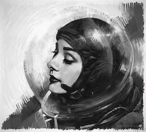 female retro future astronaut drawing | Tattoo Inspiration ...