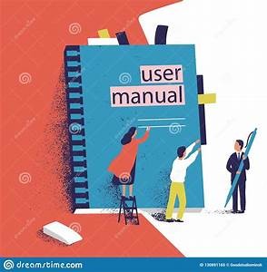 Tiny People Or Managers Trying To Open Giant User Manual