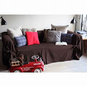 housse de canape bachette 3 places 100 coton a nouettes With tapis yoga avec housse de protection pour canapé 3 places