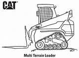 Caterpillar Coloring Loader Machines Multi Track Printables Terrain Truck Getcoloringpages Skidder sketch template