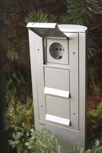 Gira Energiesäule Garten Steckdosen Für Den Außenbereich