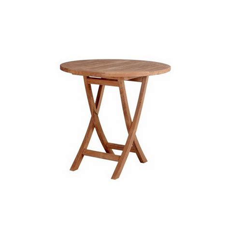 round folding table lowes shop anderson teak bahama 27 in w x 27 in l round teak