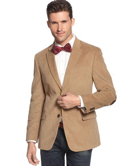 contrast trim corduroy hilfiger solid trim fit corduroy sport coat with