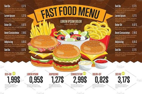 carte cuisine 30 best food drink menu templates design shack