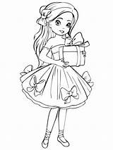 Coloring Doll Dolls Printable Mycoloring Recommended sketch template