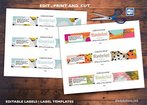 edit pint  cut sticker template editable label template