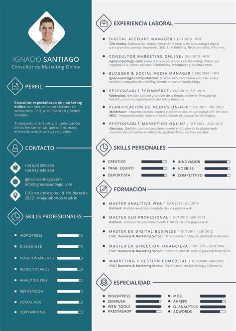 Template De Cv by Plantilla Curriculum Vitae Cv Ignacio Santiago