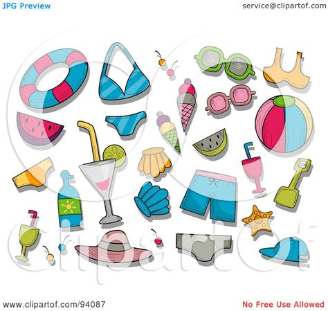 Summer Items Clipart (50+)