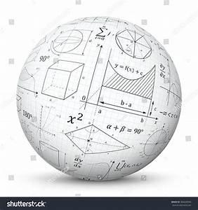 White 3d Vector Sphere Graph Paper Stock Vector 384636940