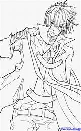 Anime Coloring Pages Boys Boy Sketch Step Dragoart Sheets Guy Print Drawing Books Manga Guys Popular Draw sketch template