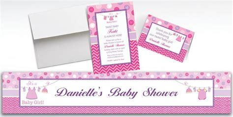 Custom Shower With Love Girl Baby Shower Invitations