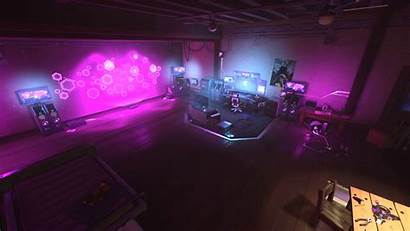 Background Sombra Gaming Hideout Cyberpunk Animated Wallpapers