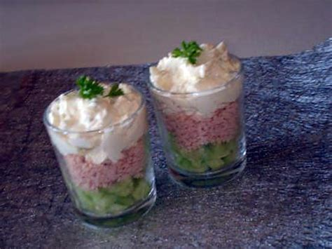 recette de verrine concombre jambon et crème boursin ail