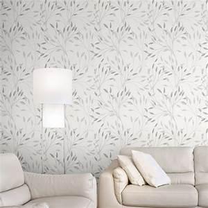 Papier Peint Tendance : papier peint intiss alkane gris leroy merlin ~ Premium-room.com Idées de Décoration