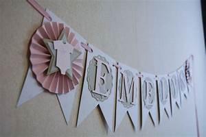 Wimpelkette Selber Basteln : wimpelkette mit namen babyshower girlande wimpelkette ~ Lizthompson.info Haus und Dekorationen
