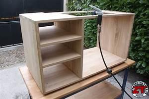 Meuble Vasque Bois Salle De Bain : tuto fabriquer un meuble vasque de salle de bain ~ Teatrodelosmanantiales.com Idées de Décoration