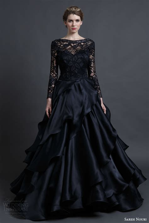 25 gorgeous black wedding dresses deer pearl flowers