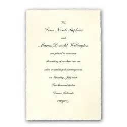 bridesmaid announcement colonial white medium deckled wedding announcements