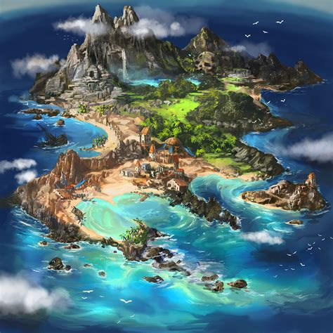 anime island down imaginary maps your source for fictional maps