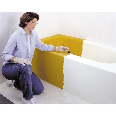 rust oleum specialty  qt white tub  tile refinishing