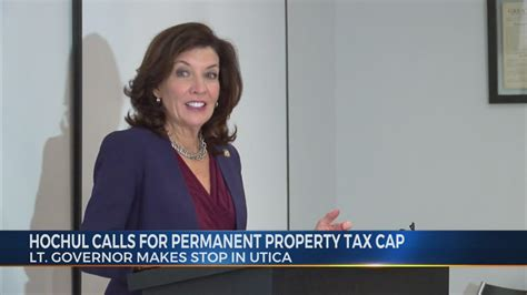 She is to become the 57th governor of new york upon andrew cuomo's resignation, scheduled for. Lieutenant Governor Kathy Hochul Stresses Permanent 2% Property Tax Cap