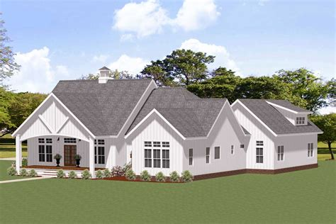 Plan 46381LA: Exclusive 3 Bed Farmhouse Plan for Country