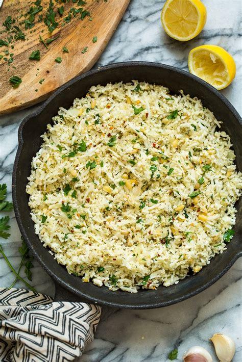 Mediterranean Cauliflower Rice  Paleo + Vegan  A Saucy